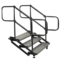 "Biljax 3-Step Ultra-Stair for 12"" to 21"" High Stages steps, stairs"