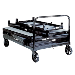 Biljax ST8100 Horizontal Storage Cart biljax, stage storage, storage cart, portable staging