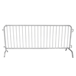 Biljax 8' Crowd Control Barrier w/ Bridge Feet crowd control fence with feet, crowd control barrier, concert barrier, security barrier, concert fence, stage fence, stage barrier