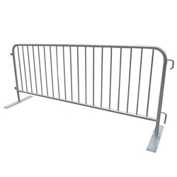 Biljax 8 Crowd Control Barrier with Flat Feet crowd control fence with feet, crowd control barrier, concert barrier, security barrier, concert fence, stage fence, stage barrier
