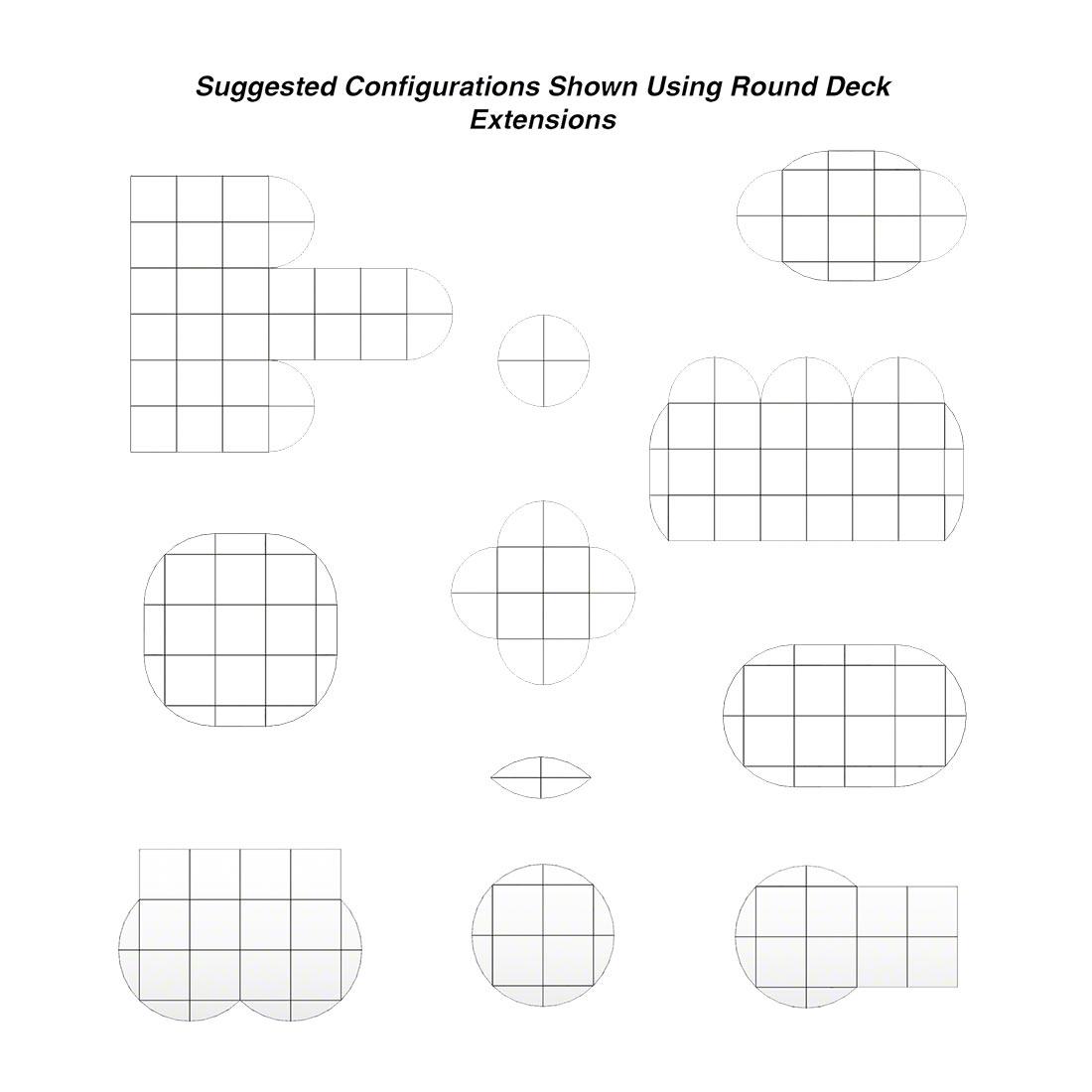 Biljax ST8100 Round Deck Steel Frame Stage Sections #BJX-0106-3 ...