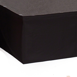 "Ameristage StageWrap Stage Skirt, 9x9"" Black (Overstock) portable stage skirting, velcro, hook and loop, 9x9, 9 x 9, 9 inch stage skirt, clearance, sale, black, overstock"