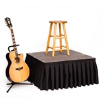 StageDrop 3'x3' Folding Portable Stage Package 3x3, 3 x 3, 36x36 modular stage, portable staging, portable stage unit, stage skirt