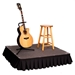 StageDrop 4'x4' Folding Portable Stage Package - SD44