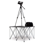 IntelliStage 4'x4' Camera Platform with Riser (Requires Freight Shipping) 4x4, 48x48 modular stage, portable staging