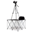 IntelliStage Lightweight 4'x4' Folding Camera Platform with Riser (Ground Shippable) - ISF1CAMERA