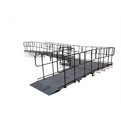 "IntelliStage Wheelchair 90-Degree Turn Ramp for 24"" High Stages wheel chair, ada compliant, americans with disabilities act, ada ramp"