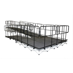 "IntelliStage Wheelchair Switch Back Ramp for 24"" High Stages wheel chair, ada compliant, americans with disabilities act, ada ramp"