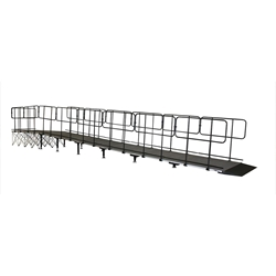 "IntelliStage Straight Wheelchair Ramp for 24"" High Stages wheel chair, ada compliant, americans with disabilities act, ada ramp"