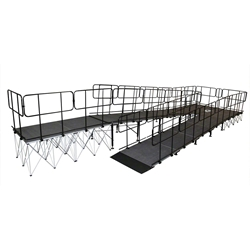 "IntelliStage Wheelchair Switch Back Ramp for 32"" High Stages wheel chair, ada compliant, americans with disabilities act, ada ramp"