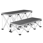 "IntelliStage Lightweight 4' Wide Step Kit for 24"" High Stages IS4STEP24C, IS4STEP24T, IS4STEP24I"