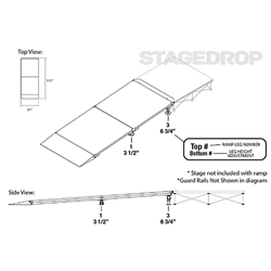 "IntelliStage Straight Wheelchair Ramp for 8"" High Stages wheel chair, ada compliant, americans with disabilities act, ada ramp"