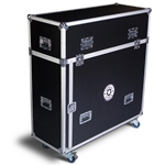 IntelliStage 4' Flight Case (Fits 6 4' platforms, 6 risers) stage storage, stage case, road case, stage trolley, rolling cart, 4x4