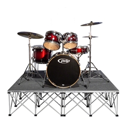 IntelliStage Lightweight 6x6 Drum Riser System, Carpet portable drum riser, 6x6, 36
