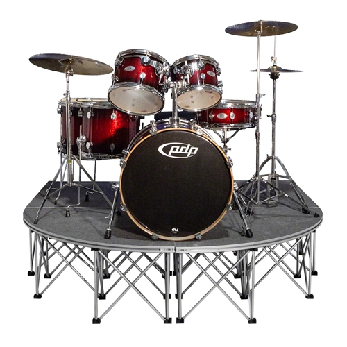 3. IntelliStage Lightweight 6'x6' Rounded Front Drum Riser