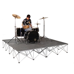 IntelliStage 8x8 Drum Riser System, Carpeted 8x8, 8 x 8, portable drum riser