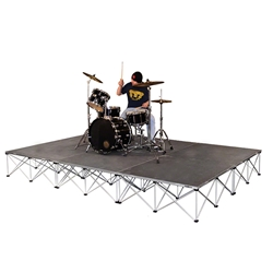 IntelliStage 12x8 Drum Riser System, Carpeted 12x8, 8x12, portable stage, portable drum riser, small stage