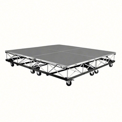 IntelliStage 6x6 Mobile Drum Riser on Casters, Carpeted