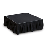 "IntelliStage Black Skirt for 8"" High Stage System (8'x9"")"