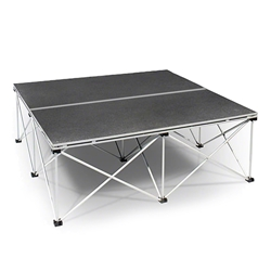 IntelliStage 4x4 Folding Portable Stage Unit 4x4, 48x48 modular stage, portable staging, camera riser, camera platform