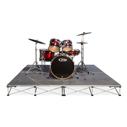 IntelliStage Lightweight 8x8 Drum Riser System, Carpet 8x8, 8 x 8, portable drum riser