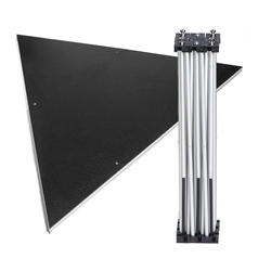 IntelliStage Lightweight 4 Equilateral Triangle Portable Stage Unit equilateral triangle platform, triangular, angled, stage unit, portable staging, portable stage, stage kit, triangle stage