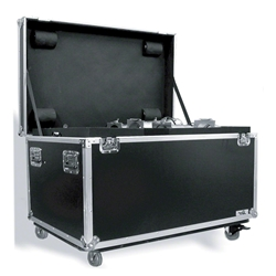 Road Ready RRUT1 Utility Trunk w/Casters for Stage Hardware portable stage trunk, storage, transportation, stage storage, half-size utility trunk half truck pack, accessory storage, flight case, road case, rolling