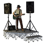 StageDrop 6'x6' Corner Stage Package 6x6, 6 x 6, SD668CORNERC, SD6616CORNERC, SD6624CORNERC, SDCORNER668C, SDCORNER6616C, SDCORNER6624C, folding stage