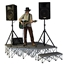 IntelliStage Lightweight 4' 90-Degree Right Triangle Portable Stage Unit - ISTAGEIT4