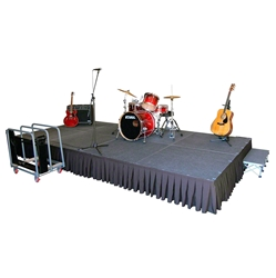 TotalPackage™ Lightweight Portable Stage Kit, 8x16  SD8168C, SD8168T, SD81616C,SD81616T, SD81624C,SD81624T, folding stage, cart, storage, total package