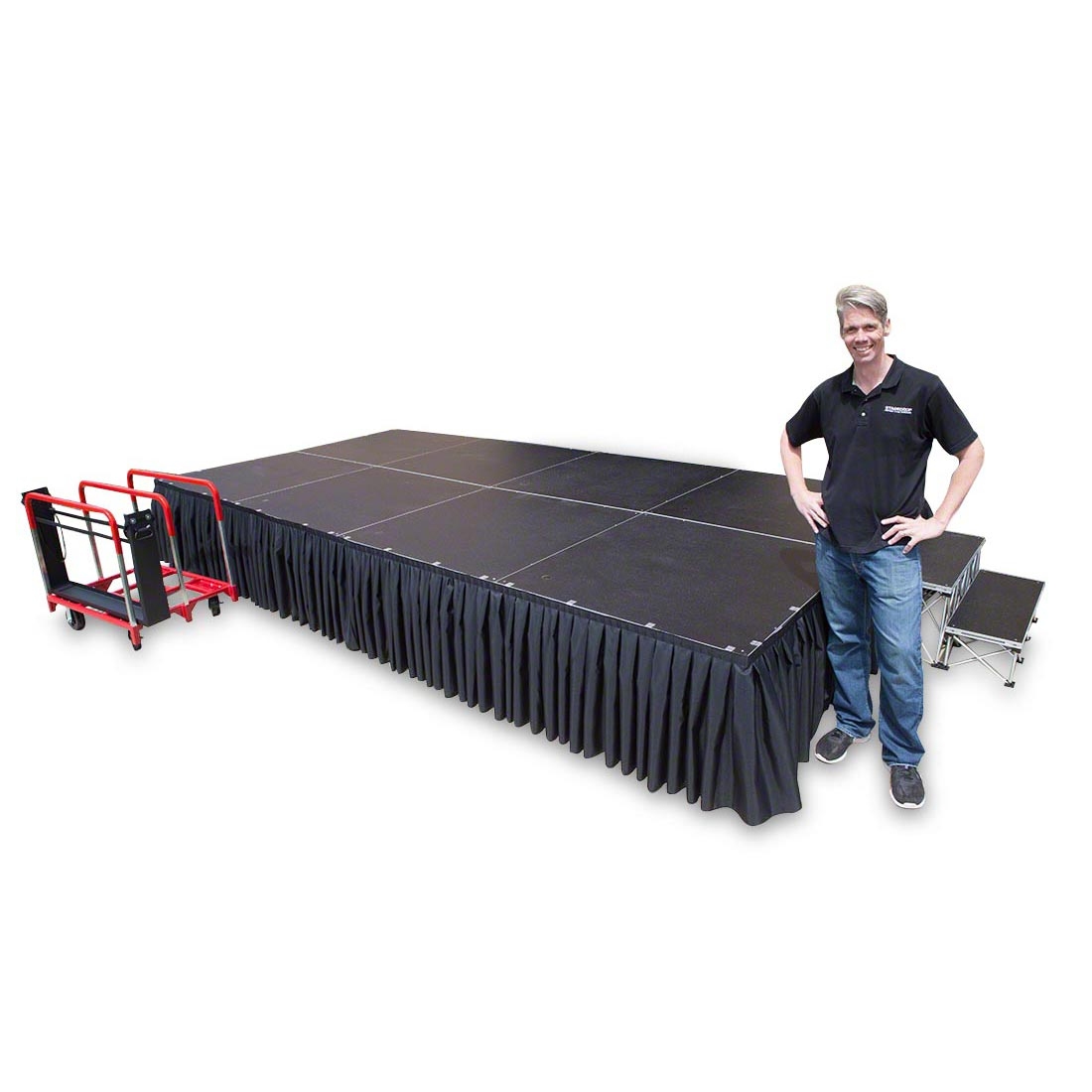 TotalPackage™ Lightweight Portable Stage Kit, 8'x16' TPL816