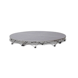 IntelliStage Lightweight 8 Round Portable Stage System 8 foot round, round stage, 8x8, 8x16, 8x24, 8x32, 50 square feet, small stage, quarter round, SDR88, SDR816, SDR824, SDR832