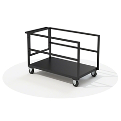 QuickLock Stage Platform Trolley stage storage, stage case, road case, storage cart, rolling cart, stage dolly, transport, road cart