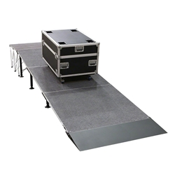 "IntelliStage Carpeted Equipment Ramp w/Landing for 24"" High Stages"