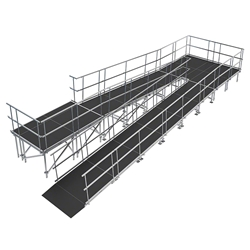 "Universal Switchback ADA Wheelchair Ramp with Landing for 40"" High Stages universal ramp, universal wheelchair ramp, universal ada ramp, ada ramp, 40 inch stage ramp, 40 in wheelchair ramp, portable stage ramp, switchback ramp, switchback wheelchair ramp"