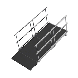 "Universal Straight ADA Wheelchair Ramp for 8"" High Stages universal ramp, universal wheelchair ramp, universal ada ramp, ada ramp, 8 inch stage ramp, 8 in wheelchair ramp, portable stage ramp"