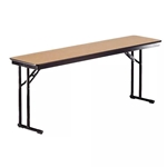 "Midwest Folding 18""x96"" Comfort Leg Seminar Folding Table, Laminate Surface midwest folding, ef series, CP818ef, rectangle, folding table, 96x18, 18x96, 18x96x30, laminate, comfort leg, comfort leg seminar, teaching table"