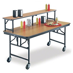"Midwest Folding 30""x72"" Mobile Buffet/Bar Table, Laminate midwest folding, ef series, MB306ef, rectangle, folding table, 72x30, 30x72, 30x72x30, laminate, mobile buffet, bar table"