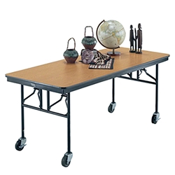 "Midwest Folding 30""x72"" Mobile Utility Table, Laminate midwest folding, ef series, MU306ef, rectangle, folding table, 72x30, 30x72, 30x72x30, laminate"