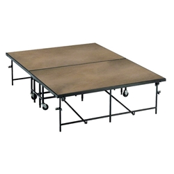 Midwest Folding 4x8 Fixed Height Mobile Stage, Hardboard portable staging, midwest folding, 4x8, 4 x 8, 8x4, 8 x 4, fixed height, mobile, mobile stage