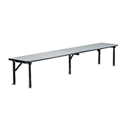 "Midwest Folding 12""x72"" Riser Shelf for Mobile Utility Table, Laminate  midwest folding, ef series, SB126ef, rectangle, folding table, riser shelf, buffet shelf 72x12, 12x72, 12x72x12, laminate"