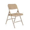 National Public Seating 201 Premium All-Steel Folding Chair, Beige