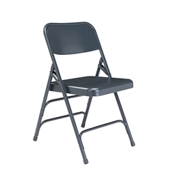 National Public Seating 304 Deluxe All-Steel Brace Folding Chair, Char-Blue folding chairs, 300 series, nps