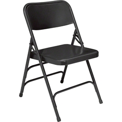 National Public Seating 310 Deluxe All-Steel Brace Folding Chair, Black folding chairs, 300 series, nps