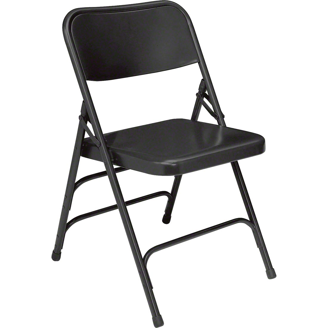 National Public Seating 310 Deluxe All Steel Brace Folding Chair, Black    NPS  ...