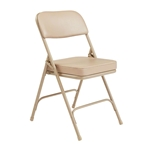 National Public Seating 3201 Premium Steel Vinyl Folding Chair, Beige folding chairs, 3200 series, padded chairs, upholstered folding chair, vinyl folding chair