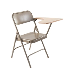 National Public Seating 5200 Series Premium All Steel Folding Chair With Tablet-Arm (2-pack) folding chairs, 5200 series, padded chairs, metal folding chair, tablet arm, steel folding chair