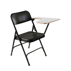 National Public Seating 5200 Series Premium All Steel Folding Chair With Tablet-Arm folding chairs, 5200 series, padded chairs, metal folding chair, tablet arm, steel folding chair