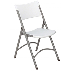 National Public Seating 602 Blow Molded Resin Plastic Folding Chair, Speckled Grey folding chairs, 600 series, plastic chairs