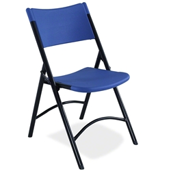 National Public Seating 604 Blow Molded Resin Plastic Folding Chair, Blue folding chairs, 600 series, plastic chairs